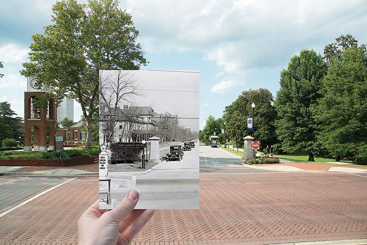 teaser image for College Avenue Then and Now photographs