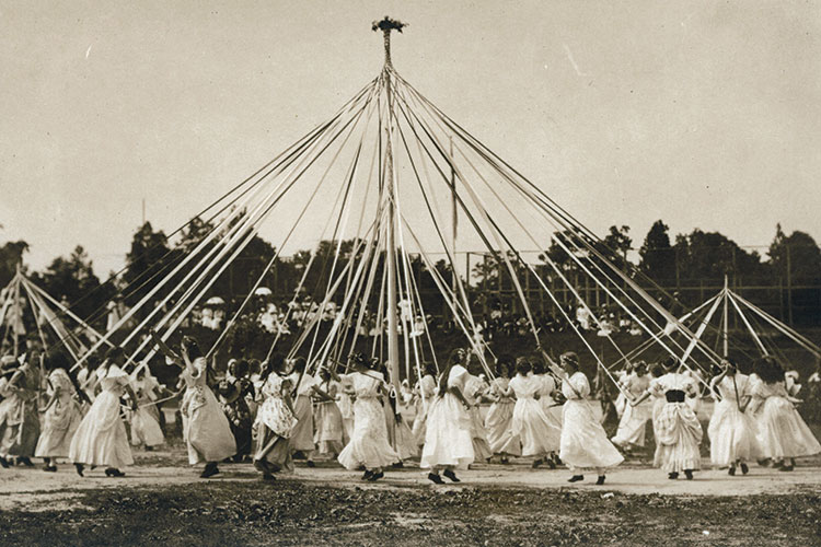 vintage photo of May Day