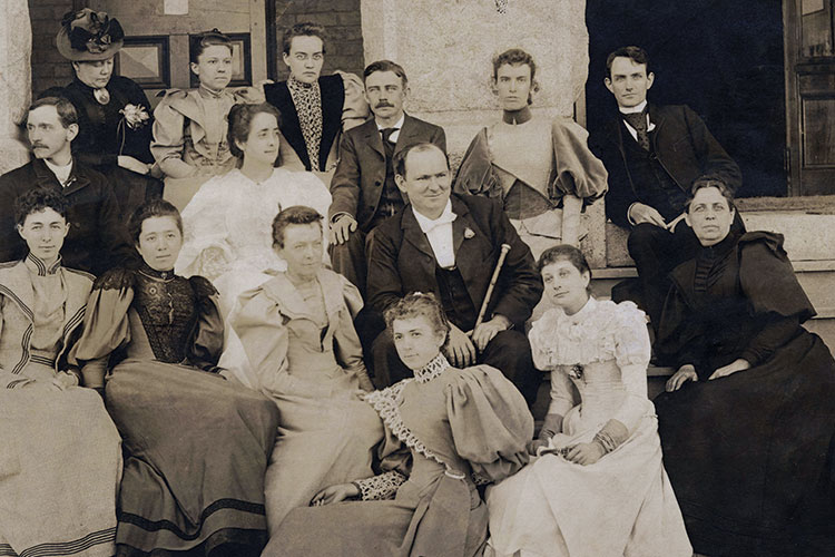 photo of Charles Duncan McIver and faculty of the State Normal Industrial School in 1893