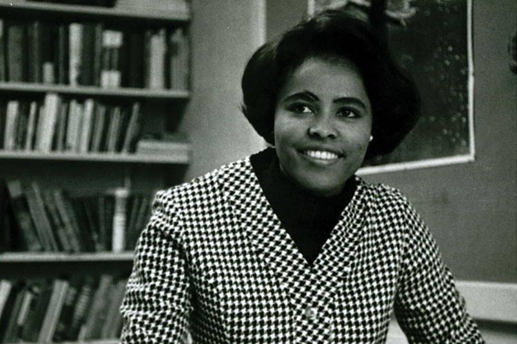1967 photo of Ernestine Small who was the first minority faculty appointment