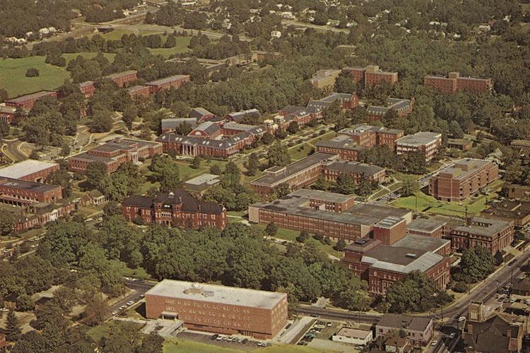 UNCG Campus Photo circa 1970
