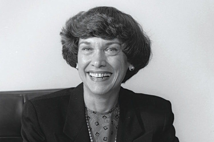 1995 photo of former Chancellor Patricia A. Sullivan