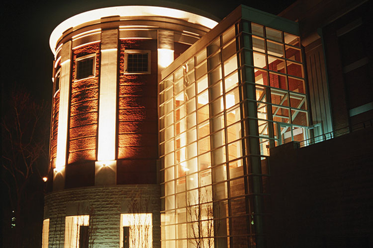 photo of the Music Building in 1999.